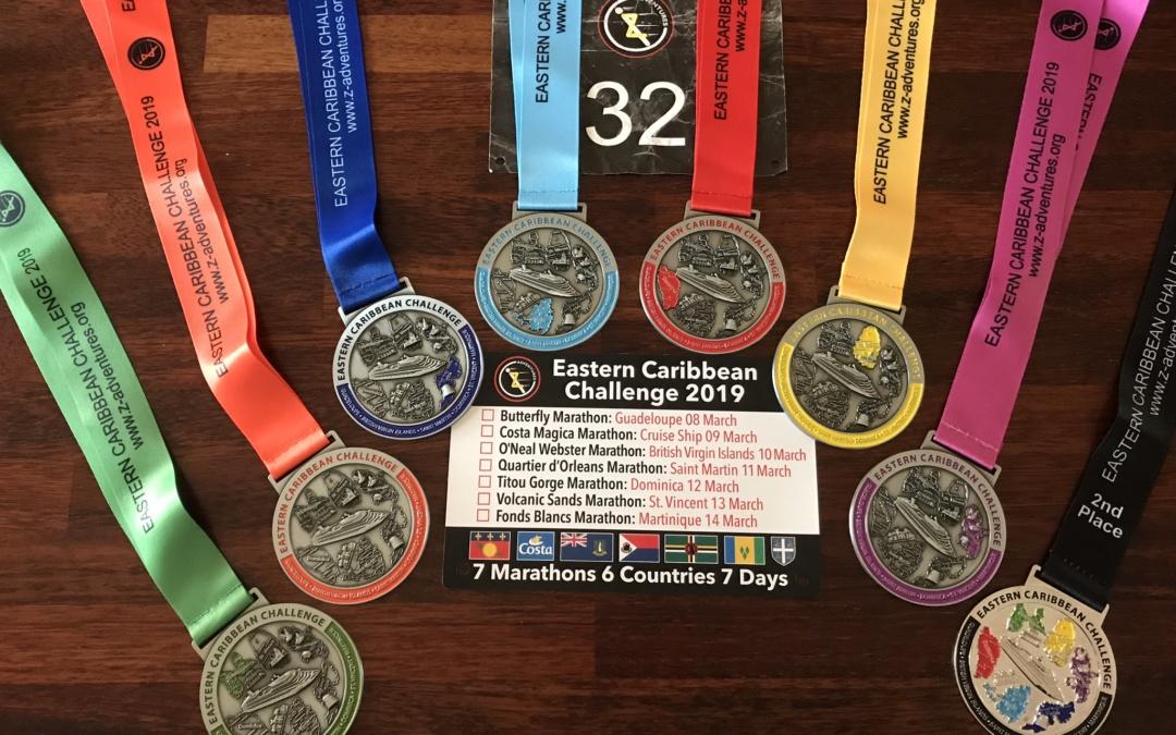 7 marathon 6 lande på 7 dage.