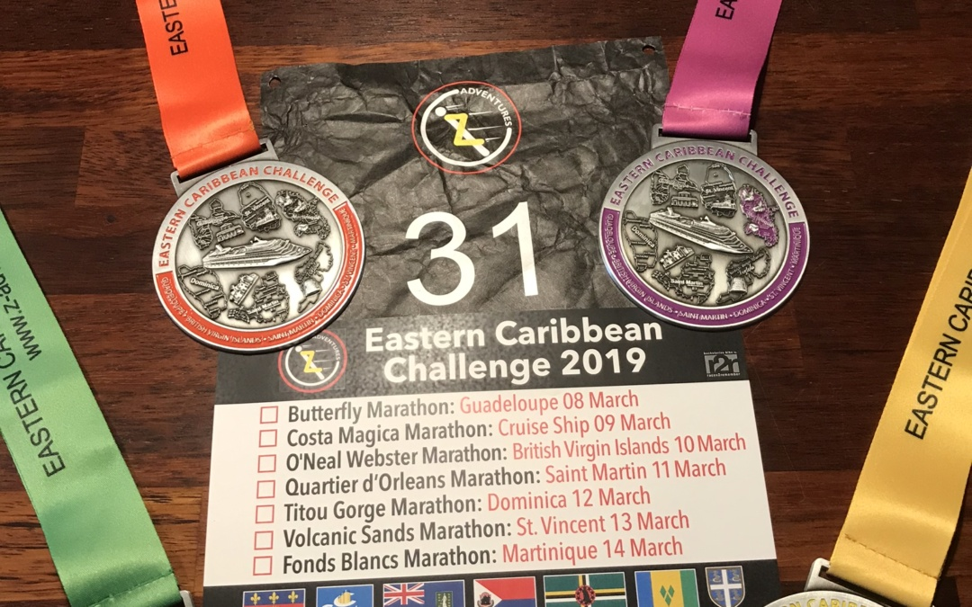 2 x 10 km i Caribien
