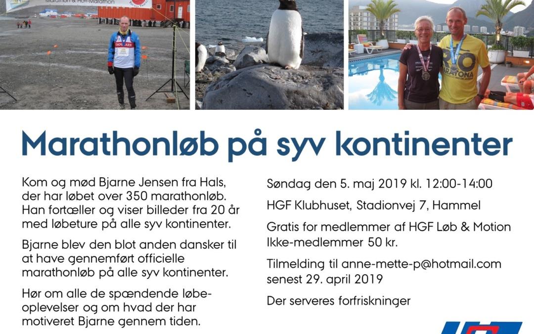 Foredrag om marathon på 7 kontinenter