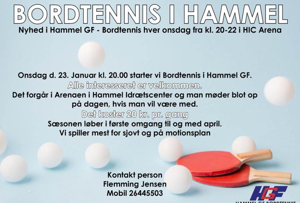 Hammel GF starter bordtennis op.