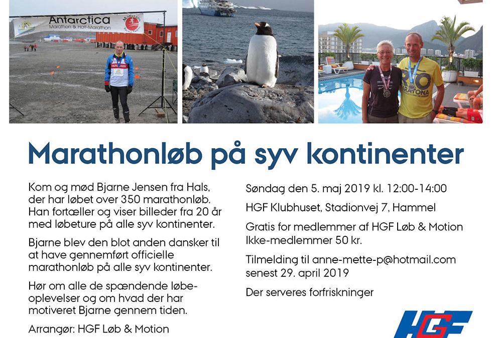 Marathonløb på syv kontinenter.